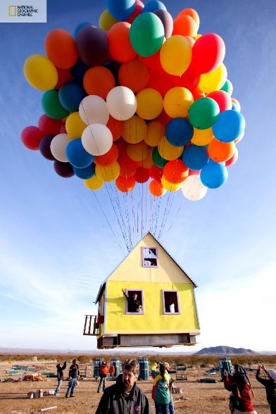 FLYING A HOUSE! & Jonathan Trappeu0027s ClusterBalloon.com