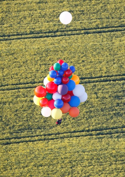 Cluster Ballooning: Fields of Flowers