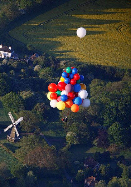Cluster Ballooning the Old Word, with Windmills