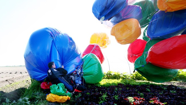Wrangling the Balloons, after landing in France