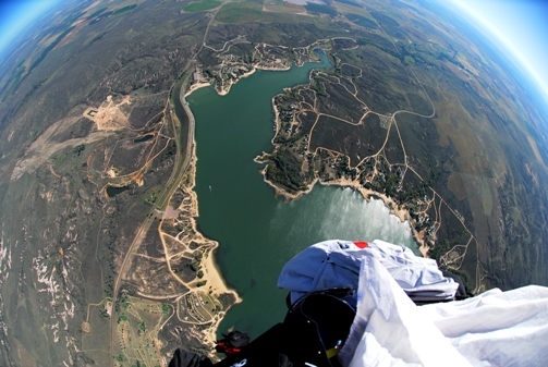 Flying Above Greenbelt Reservoir