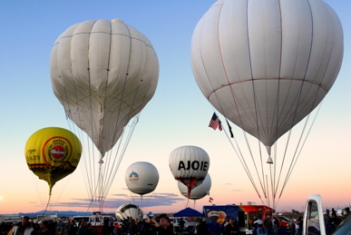 Gas Balloons Inflating at the 13th Annual Gas Balloon Race