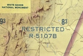 White Sands Restricted Map