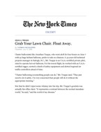 Chairway To Heaven:  The New York Times