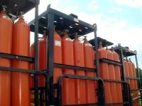 Helium Tanks ready